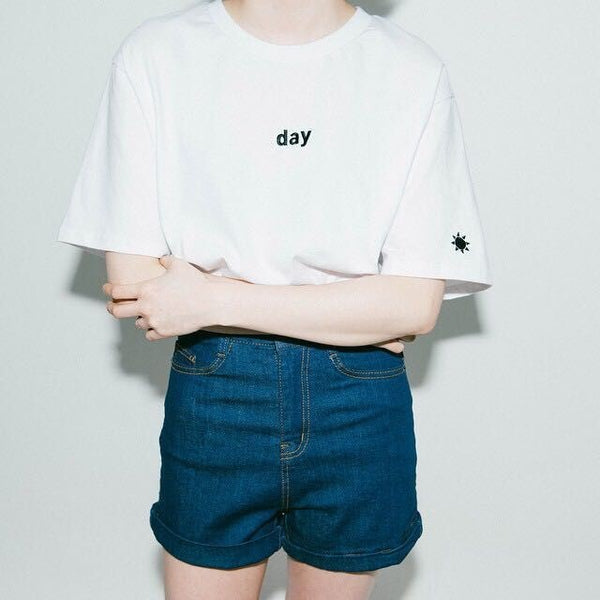 Day & Night Graphic Tee White / One Size T-Shirt