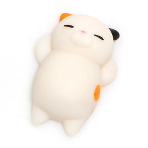 Lazy Cat Squishy Toy White