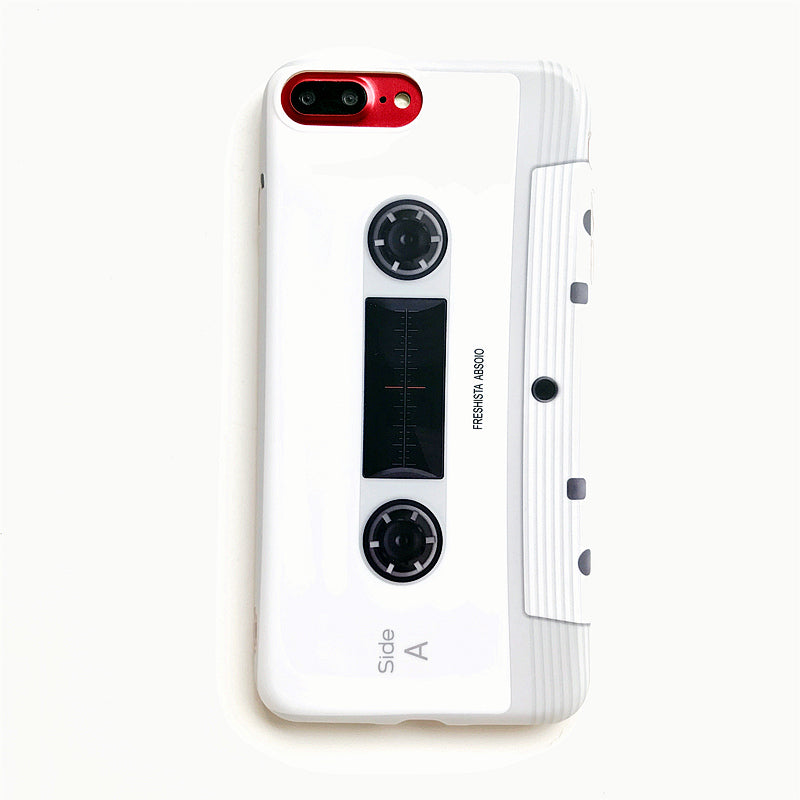 Music magnetic tape Phone case For iphone 7 7plus Retro style soft silicon case for iphone X 6 6s 6plus 8 8plus protective case - The Toasted Coconut