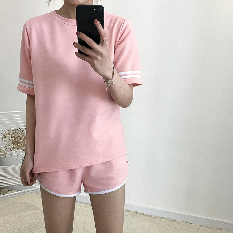 Basic Striped Co-Ord Pink / One Size Co-Ord