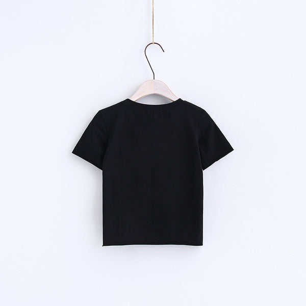 Girl Gang Cropped Graphic Tee T-Shirt