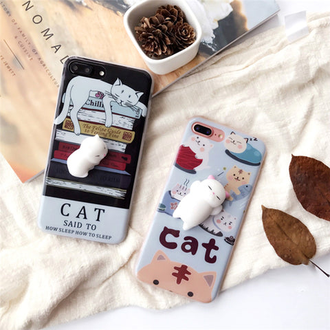 Squishy Cat Case For Iphone Phone