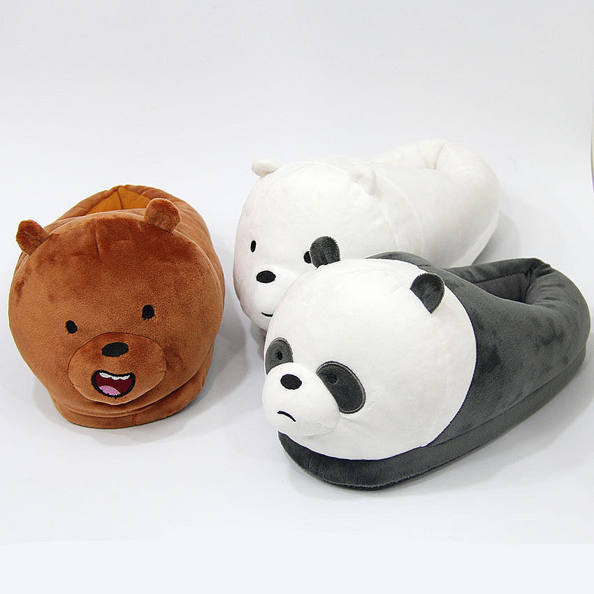 ... We Bare Bears Plush Slippers ...
