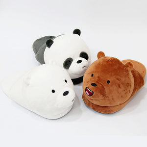 We Bare Bears Plush Slippers