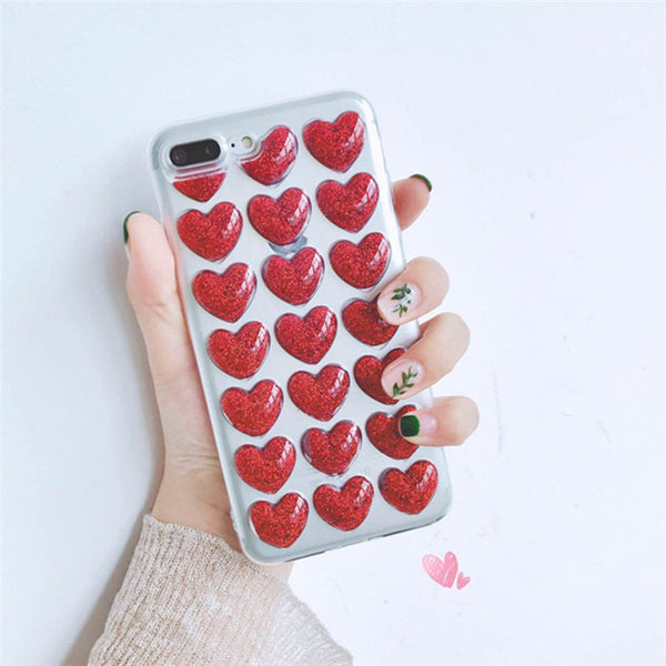 Heart Case For Iphone Red / I6 I6S Phone