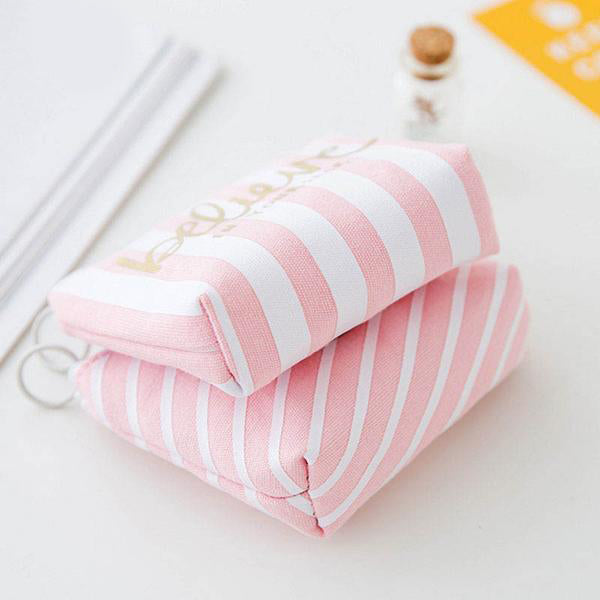 Pink And White Coin Purse