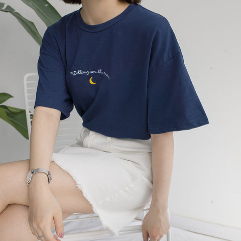 Moon Walk Graphic Tee T-Shirt