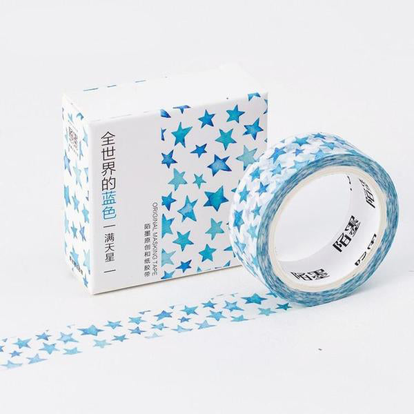 Blue Print Washi Tape Stars