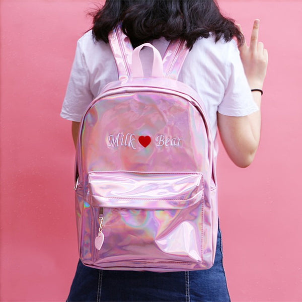 Holo Milk Bear Backpack