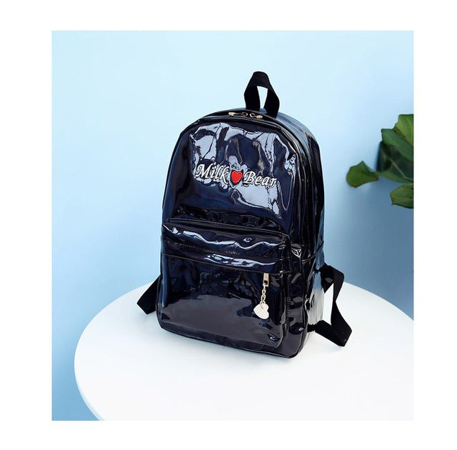 Holo Milk Bear Backpack Black