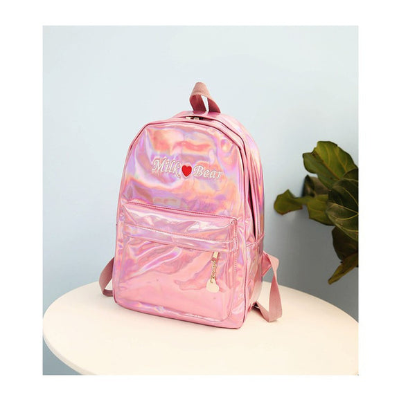 Holo Milk Bear Backpack Pink