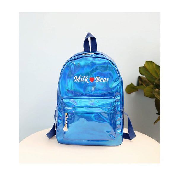 Holo Milk Bear Backpack Blue