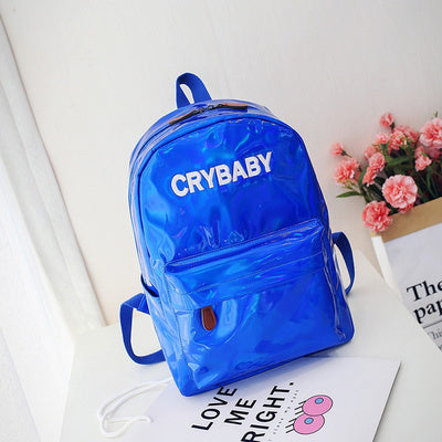 Crybaby Holographic Backpack Blue
