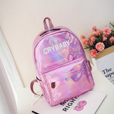 Crybaby Holographic Backpack Pink