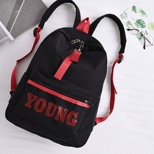 Young Nylon Backpack Black