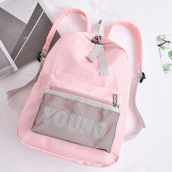 Young Nylon Backpack Pink