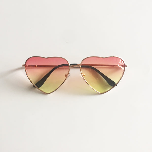 Vintage Gradient Glasses Pink Yellow
