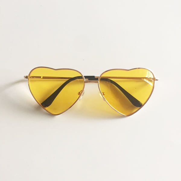 Vintage Gradient Glasses Yellow