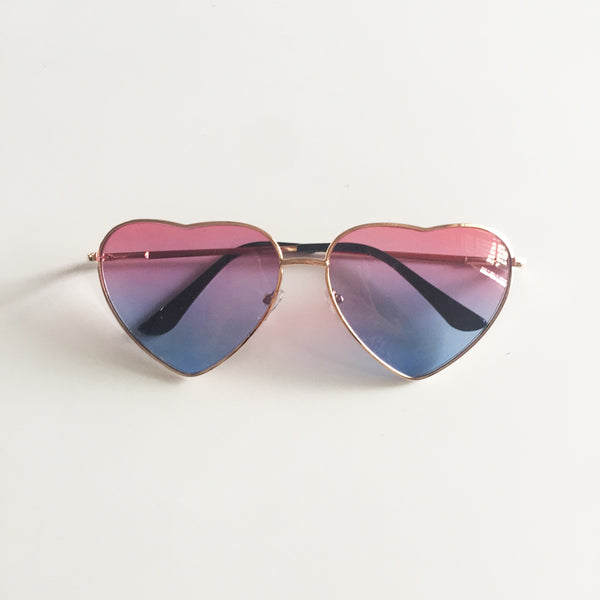 Vintage Gradient Glasses Pink Blue