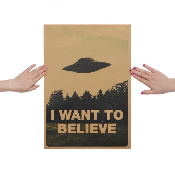 'I WANT TO BELIEVE' Poster - The Toasted Coconut