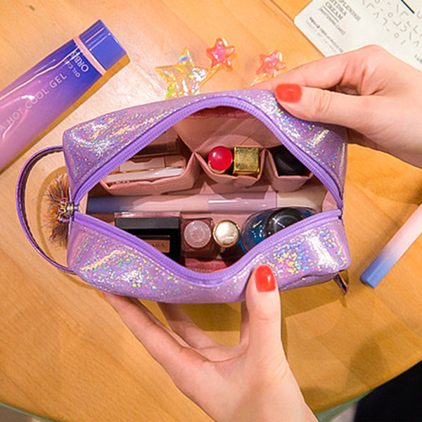 Iridescent Shimmer Pouch Make Up Bag