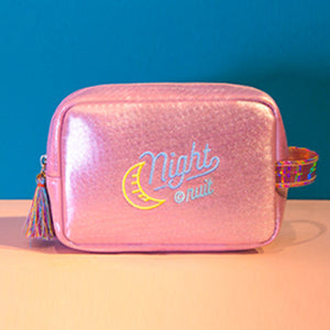 Iridescent Shimmer Pouch Pink Make Up Bag