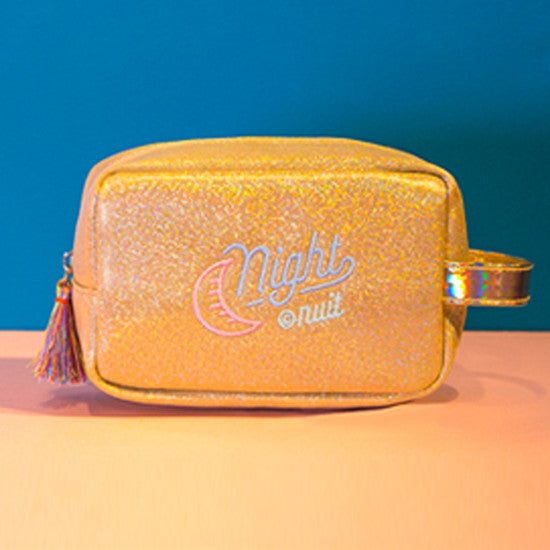 Iridescent Shimmer Pouch Gold Make Up Bag