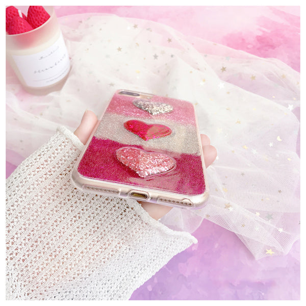 Triple Heart Case For Iphone Phone
