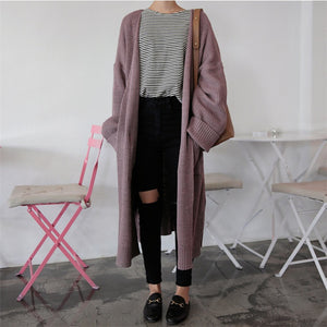 Longline Cardigan Lavender / One Size
