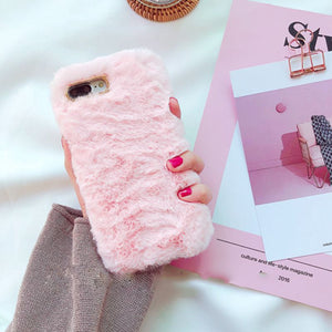 Fluffy Case For Iphone Pink / I6 I6S Phone