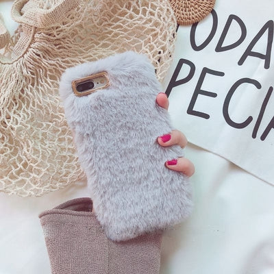 Fluffy Case For Iphone Light Gray / I6 I6S Phone