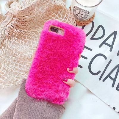 Fluffy Case For Iphone Hot Pink / I6 I6S Phone