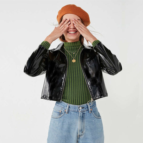 'Too Cool For School' Leather Jacket - The Toasted Coconut
