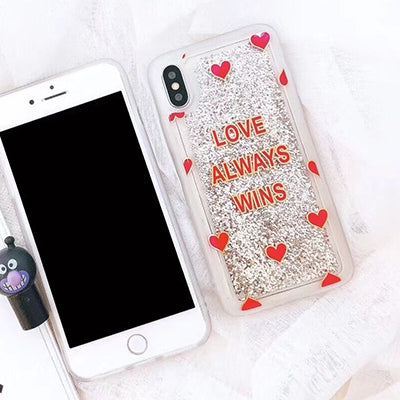 Love Always Wins Liquid Case For Iphone Style 1 / I7Plus I8Plus Phone