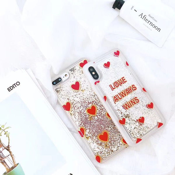 Love Always Wins Liquid Case For Iphone Phone