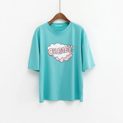 Oh Baby Graphic Tee Green / One Size T-Shirt