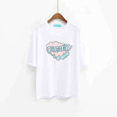 Oh Baby Graphic Tee White / One Size T-Shirt