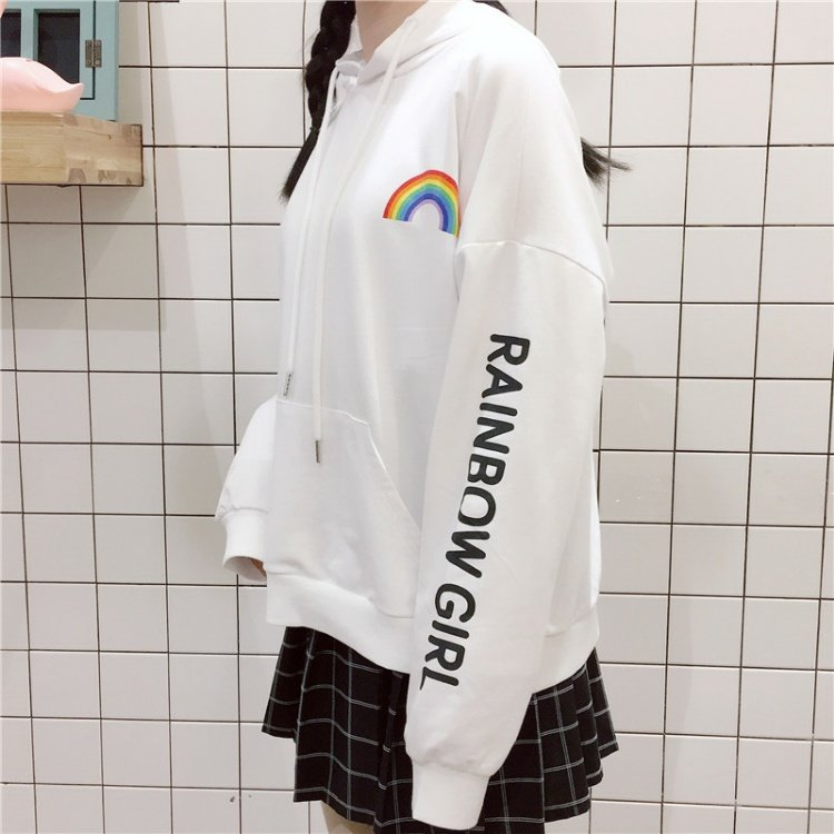'Rainbow Girl' Hoodie - The Toasted Coconut