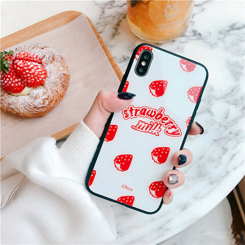 'Strawberry Milk' Case for iPhone