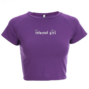 """Internet Girl"" Crop Top"