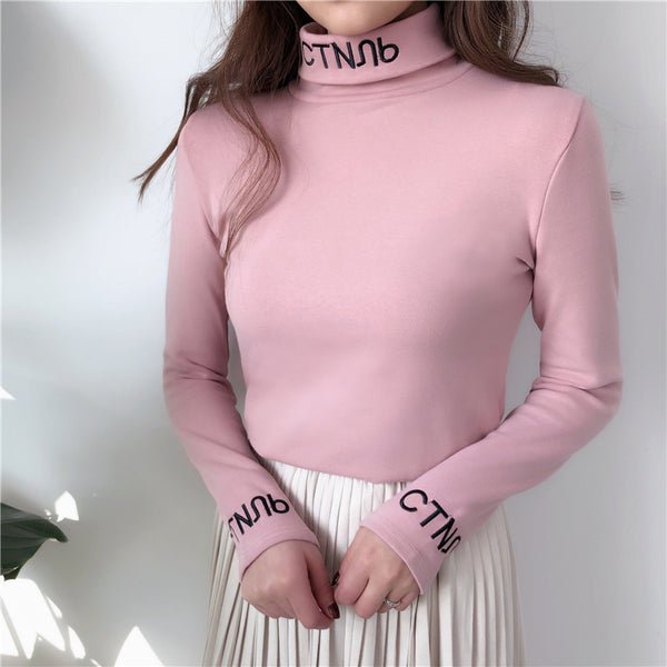 'Gibberish' High-Neck Top