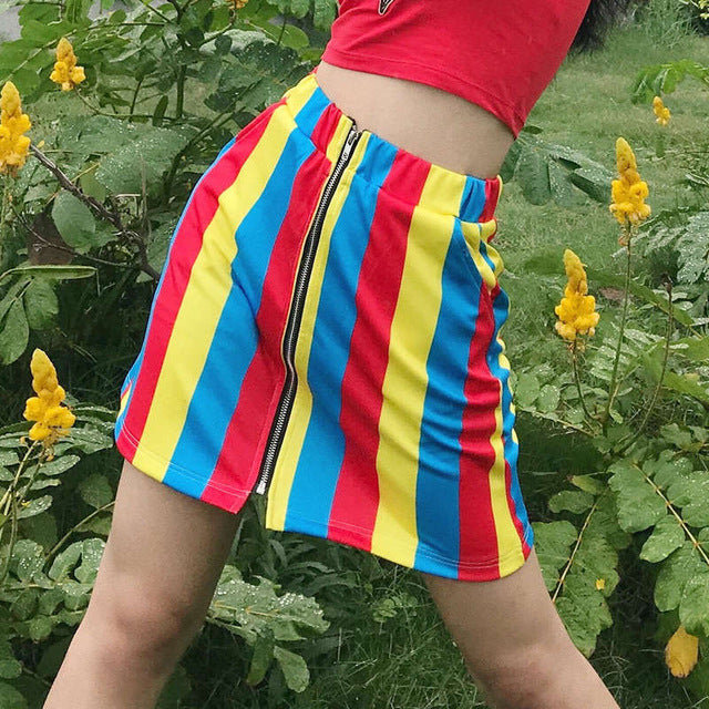 'Circus Babe' Zip-Front Skirt