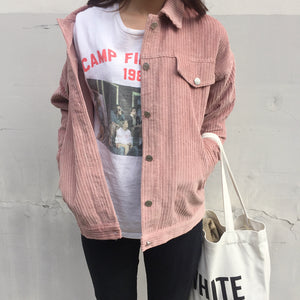 Corduroy Jacket Pink / One Size