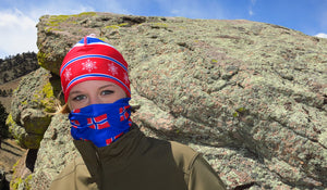 Hiking Headband Nordic Hat Norwegian Flag