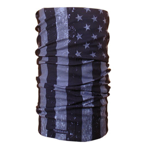 Distressed American Flag Black and White Pandana Seamless Tube Bandana Face Mask