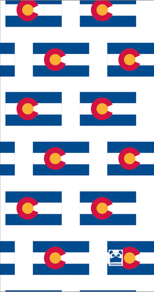 Colorado Flag White Facemask Tube Bandana