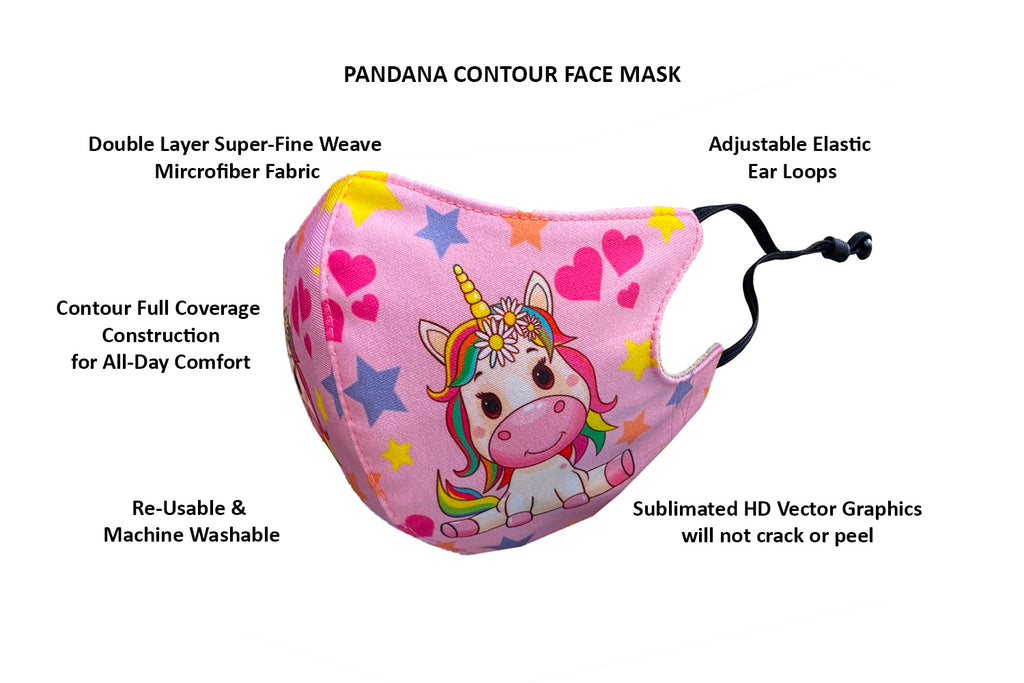 Contour Kids Face Mask with Adjustable Ear Loops