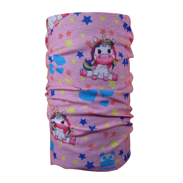Unicorn Pink Kids Face Mask Tube Bandana