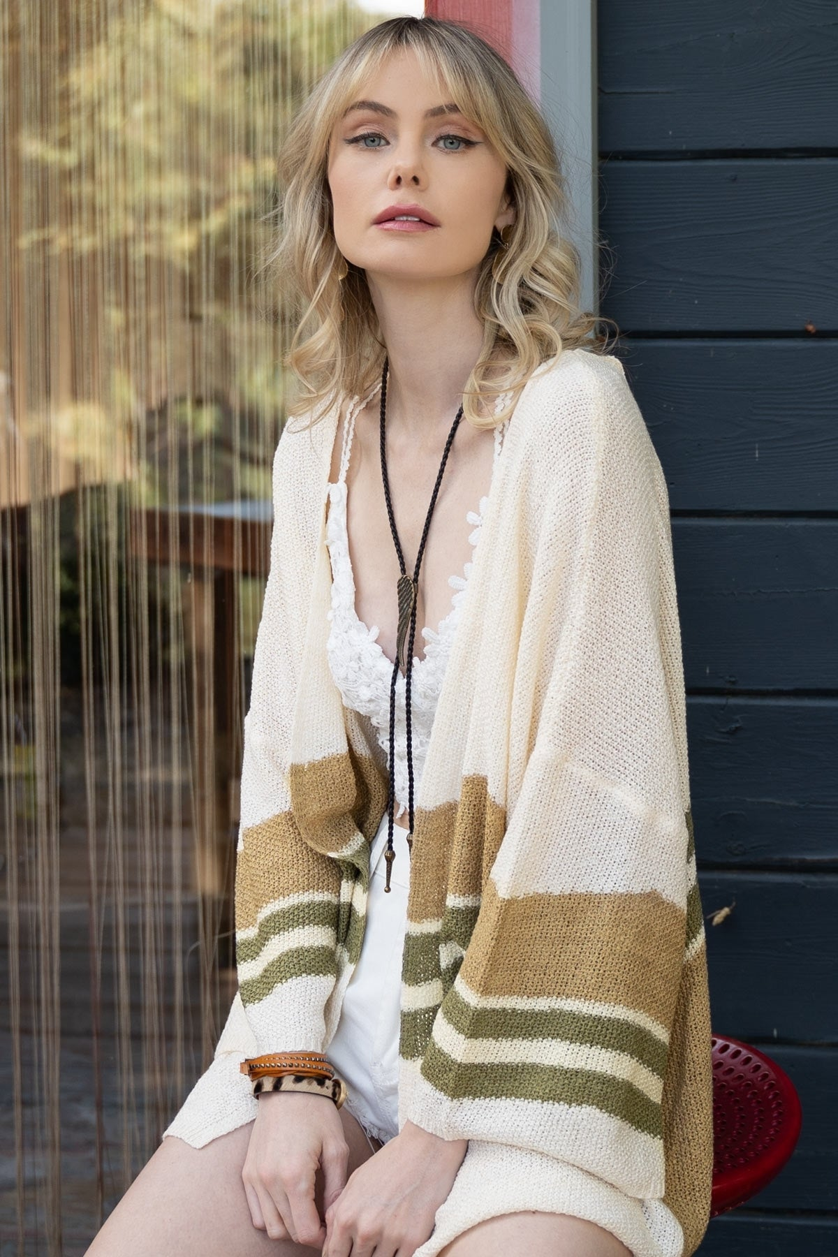 Olivia Striped Cardigan