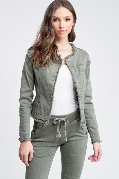 Forest Fringe Denim Jacket